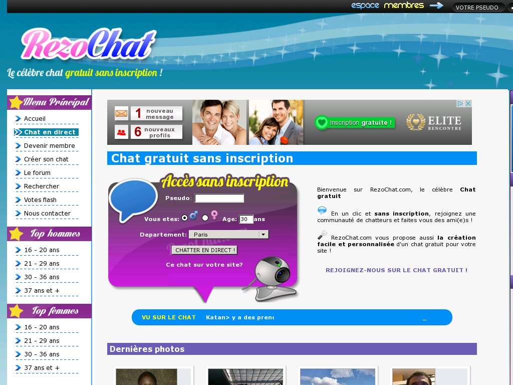 rencontre internet gratuit sans inscription)