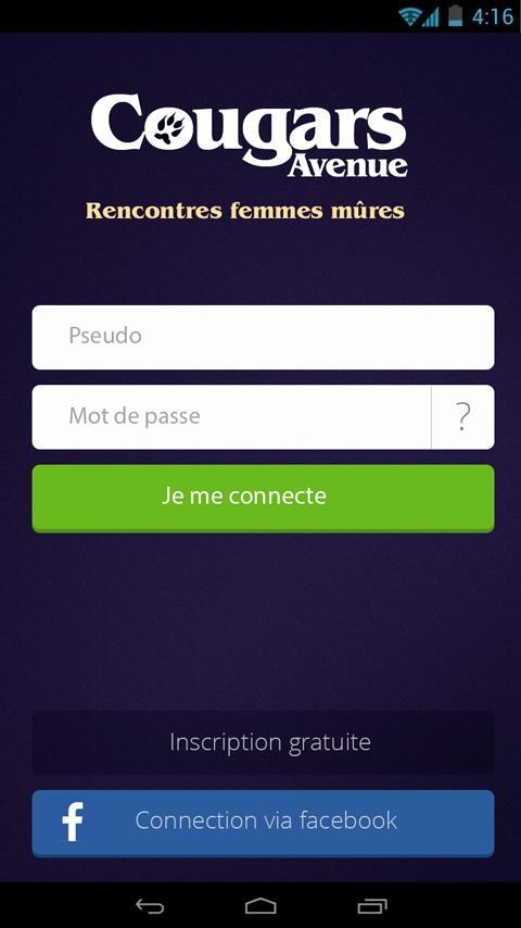 application android rencontre cougar)