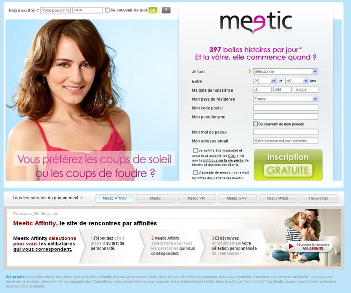 Site de rencontre gratuit - Meetic France