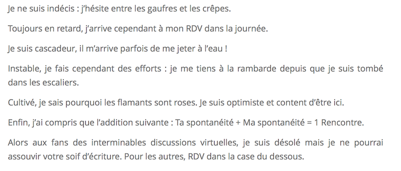 description site rencontre exemple)
