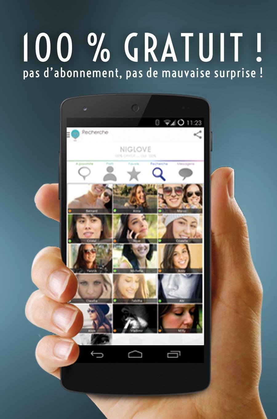 application rencontre smartphone gratuite)