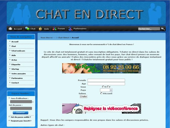 Tchat - Chat sans inscription - Tchatche