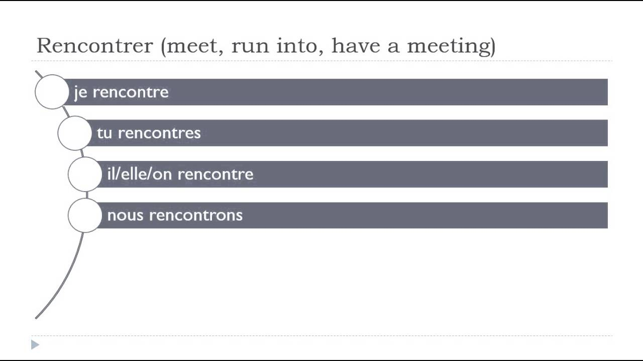 rencontres definition in french
