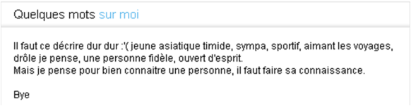 phrase de description site de rencontre)